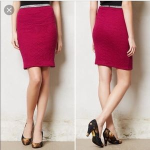 Anthropologie purple fitted skirt